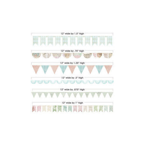 Melissa Frances - C'est la Vie Collection - Die Cut Borders - Banner