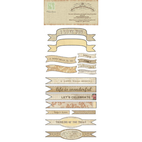 Melissa Frances - Attic Treasures Collection - Cardstock Stickers - Banners