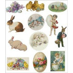 Melissa Frances - Attic Treasures Collection - Cardstock Die Cuts - Easter