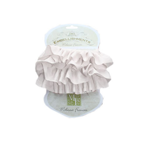 Melissa Frances - Ribbon - 2 Layer Silk - White