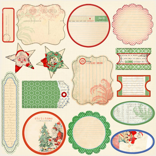 Melissa Frances - Countdown to Christmas Collection - 12 x 12 Cardstock Die Cuts