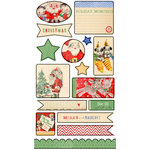 Melissa Frances - Countdown to Christmas Collection - Chipboard Die Cut Pieces