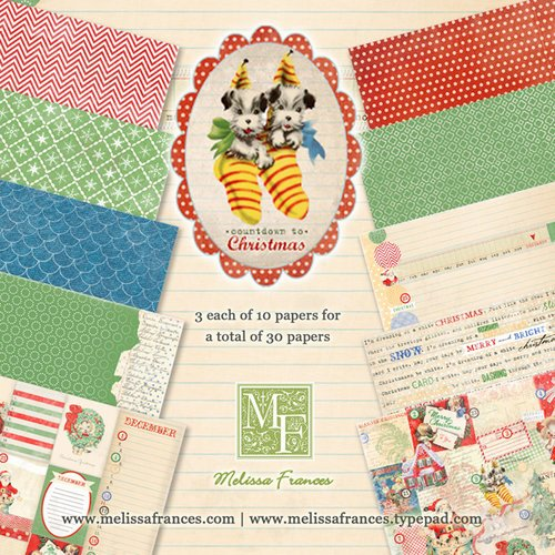 Melissa Frances - Countdown to Christmas Collection - 6 x 6 Paper Pad