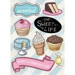 Melissa Frances - The Sweet Life Collection - Chipboard Accents