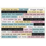 Melissa Frances - The Sweet Life Collection - Cardstock Stickers - Word Strips
