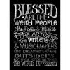 Melissa Frances - Blackboard Canvas Print - Blessed are the Weird