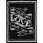 Melissa Frances - Blackboard Canvas Print - Do What You Love