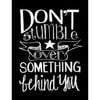 Melissa Frances - Blackboard Canvas Print - Don't Stumble