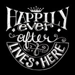 Melissa Frances - Blackboard Canvas Print - Happily Ever After