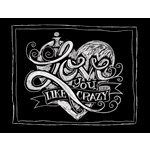 Melissa Frances - Blackboard Canvas Print - I Love You