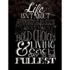 Melissa Frances - Blackboard Canvas Print - Life isn't About