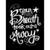 Melissa Frances - Blackboard Canvas Print - Your First Breath