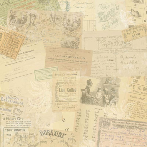 Melissa Frances - Attic Treasures Collection - 12 x 12 Paper - Simone