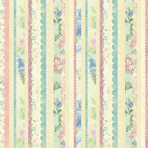 Melissa Frances - Vintage Posey Collection - 12 x 12 Paper - Rosaleen