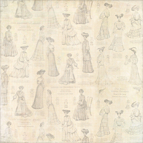 Melissa Frances - 5th Avenue Collection - 12 x 12 Paper - Hester
