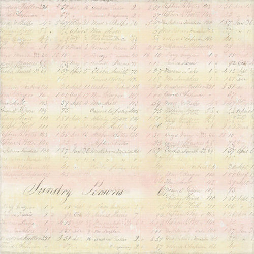 Melissa Frances - 5th Avenue Collection - 12 x 12 Paper - Pearl