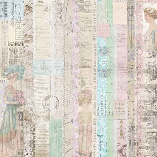 Melissa Frances - C'est la Vie Collection - 12 x 12 Paper - Pink Lady