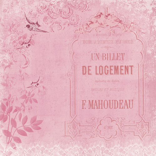 Melissa Frances - C'est la Vie Collection - 12 x 12 Paper - UN Billet