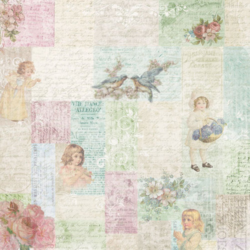 Melissa Frances - C'est la Vie Collection - 12 x 12 Paper - Little Girls Collage