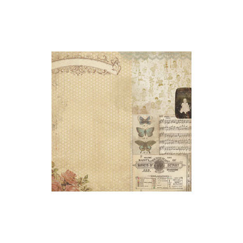 Melissa Frances - Attic Treasures Collection - 12 x 12 Paper - Hope Chest