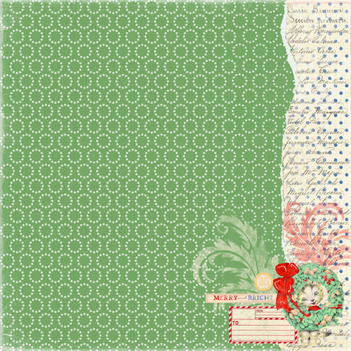 Melissa Frances - Countdown to Christmas Collection - 12 x 12 Paper - Salutations