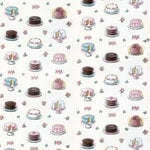 Melissa Frances - The Sweet Life Collection - 12 x 12 Double Sided Paper - Hooray For Cake