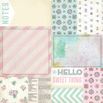 Melissa Frances - The Sweet Life Collection - 12 x 12 Double Sided Paper - Bits and Pieces
