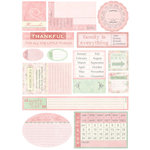 Melissa Frances - Heart and Home - Designer Stickers - Thankful Date Prompt, CLEARANCE