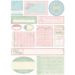 Melissa Frances - Heart and Home - Thankful Collection - Cardstock Stickers - Breast Cancer - Date Prompt
