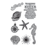 Hampton Art - 7 Gypsies - Cling Mounted Rubber Stamps - Under the Sea