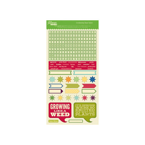 Jillibean Soup - Fresh Vegetable Soup Collection - Cardstock Stickers - Shapes
