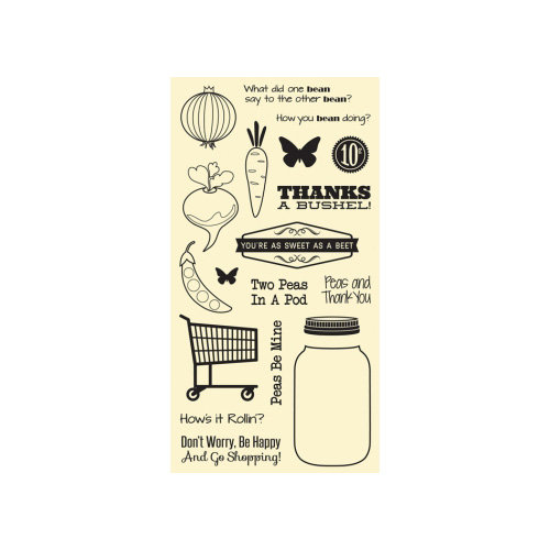 Hampton Art - Jillibean Soup - Fresh Vegetable Soup Collection - Clear Acrylic Stamps - Large Set