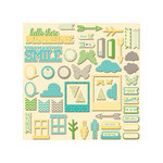 Jillibean Soup - Chilled Cucumber Soup Collection - Pea Pod Parts - Die Cut Cardstock Pieces - Shapes