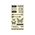 Hampton Art - Jillibean Soup - Chilled Cucumber Soup Collection - Clear Acrylic Stamps - Large Set