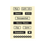 Hampton Art - Jillibean Soup - Chilled Cucumber Soup Collection - Clear Acrylic Stamps - Small Set 2