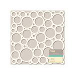 Jillibean Soup - Placemats - 12 x 12 Die Cut White Paper - Circles
