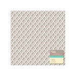 Jillibean Soup - Placemats - 12 x 12 Die Cut White Paper - Lattice