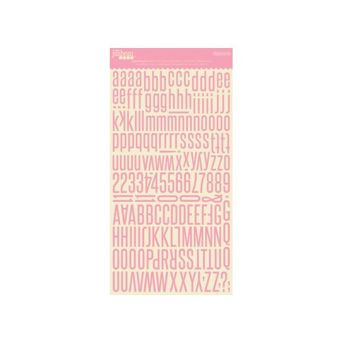 Jillibean Soup - Alphabeans Collection - Alphabet Cardstock Stickers - Grapefruit Pink