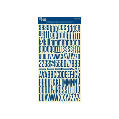 Jillibean Soup - Alphabeans Collection - Alphabet Cardstock Stickers - Blue Corn Navy