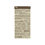 Jillibean Soup - Alphabeans Collection - Alphabet Cardstock Stickers - Fig Brown