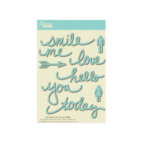 Jillibean Soup - Wise Words - Cardstock Stickers - Smile - Blue