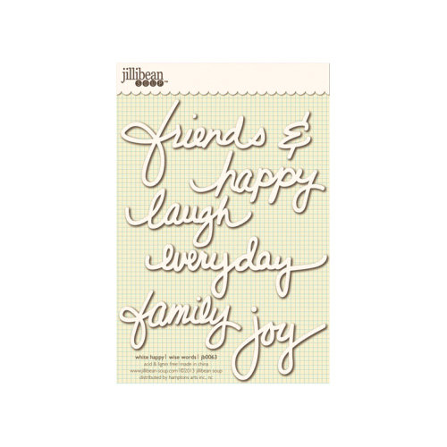 Jillibean Soup - Wise Words - Cardstock Stickers - Happy - White