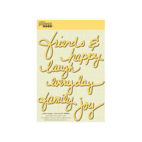 Jillibean Soup - Wise Words - Cardstock Stickers - Happy - Yellow