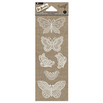 Hampton Art - Jar Jewelry Collection - Lace Stickers - Butterfly