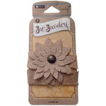 Hampton Art - Jar Jewelry Collection - Burlap Flower Tie