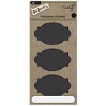 Hampton Art - Jar Jewelry Collection - Large Chalkboard Stickers - Fancy Ovals