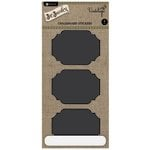 Hampton Art - Jar Jewelry Collection - Large Chalkboard Stickers - Fancy Rectangles