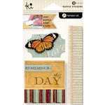 KI Memories - Vintage Charm Collection - Ruffles - Layered and Stitched Cardstock Stickers - Remember This Day