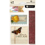 KI Memories - Vintage Charm Collection - Ruffles - Layered and Stitched Cardstock Stickers - Dare to Dream