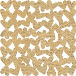 KI Memories - Vintage Charm Collection - 12 x 12 Die Cut Lace Paper - Musical Hearts